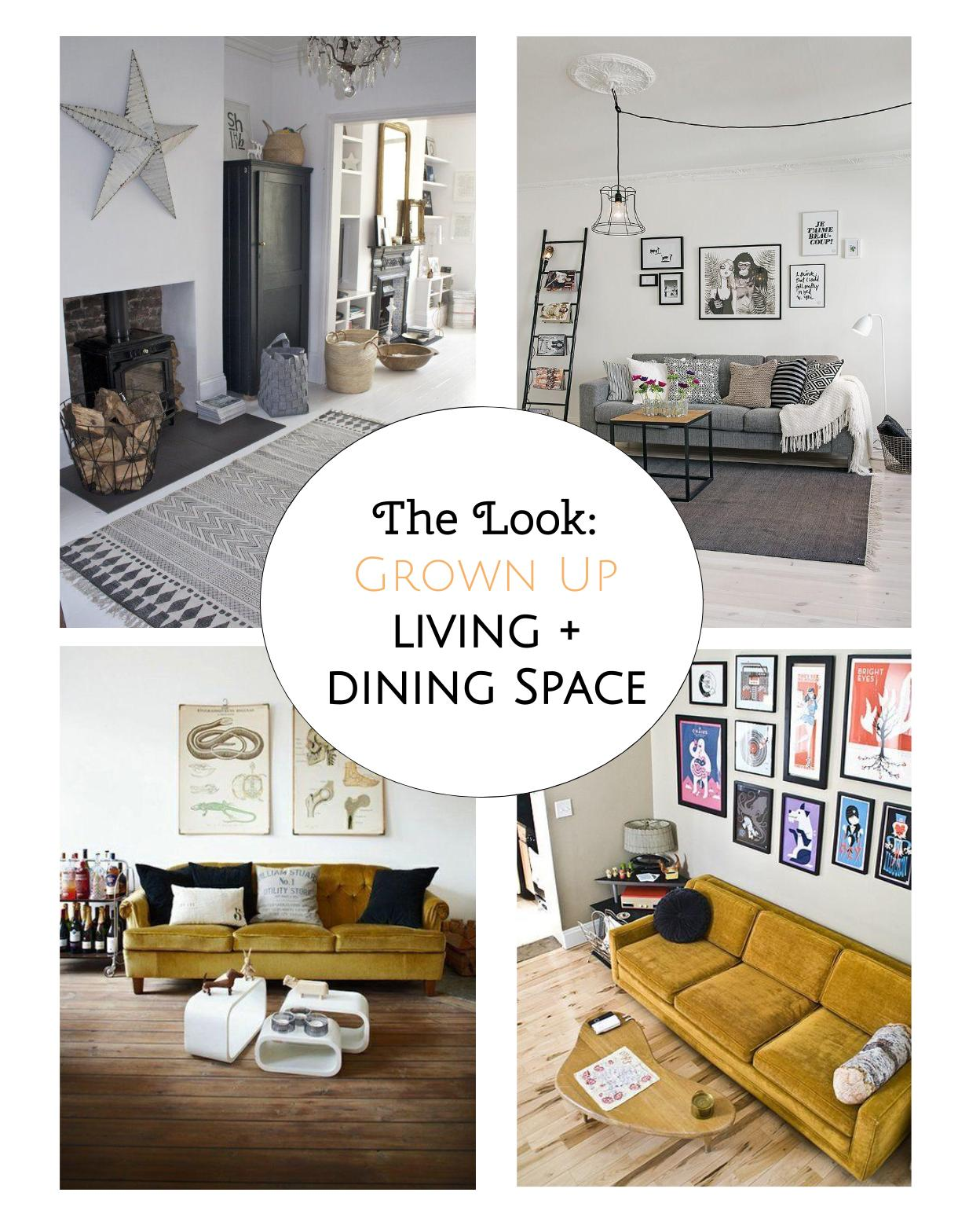 The Look: How to create a grown up open-plan living and dining space with www.welovehomebloe.com