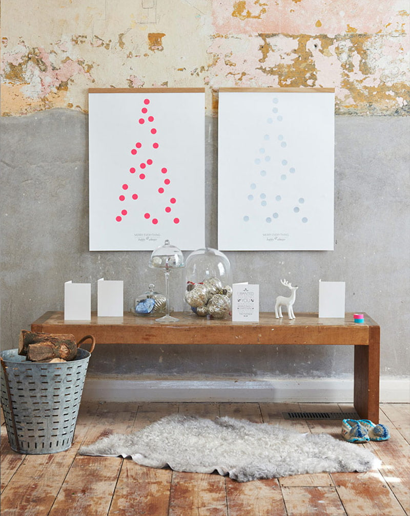 'One Two Tree' Christmas print by One Must Dash