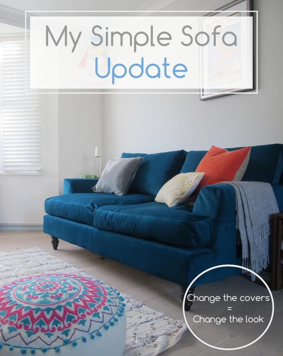 How I got £2000 sofa for £100 - a simple sofa update by Interior Stylist Maxine Brady from welovehomeblog