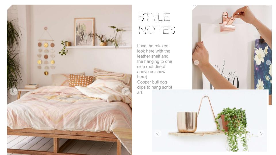 How to become an interior designer: using copper props