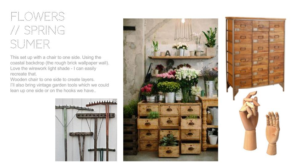 How to become an interior stylist: prop set up