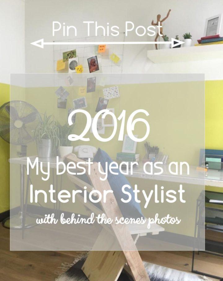 My year as an Interior Stylist