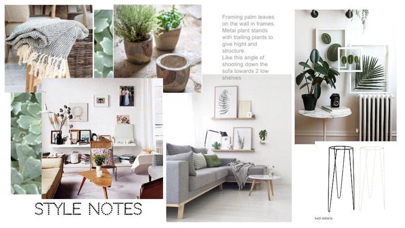 Interior stylist: style notes using Google Slides