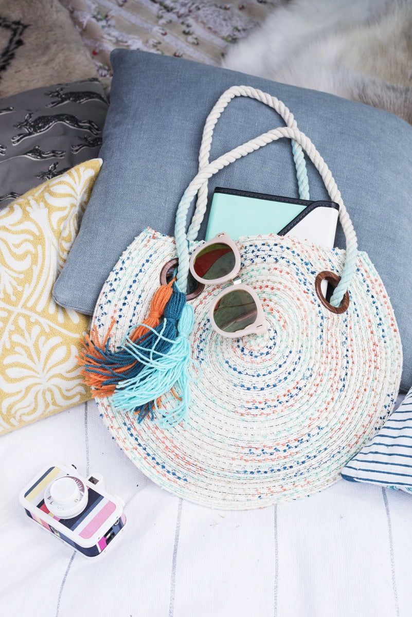 A summery bag; ready for glamping