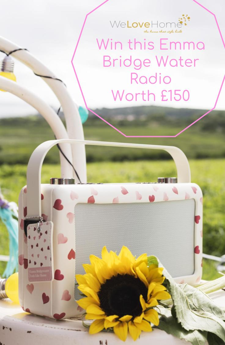 Win a DAB 'Pink Heart' Hepburn MK11 bluetooth Radio by My VQ which is worth £150. And use £50 discount code with Blogger Maxine Brady from WeLoveHome