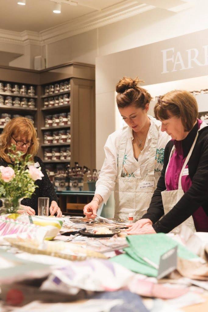 What is The Secret Styling Club?  They are workshops hosted by interior stylists Maxine Brady and Laurie Davidson - who run fun, interactive and creative and capture - the first one was hosted at Hove Farrow and Ball