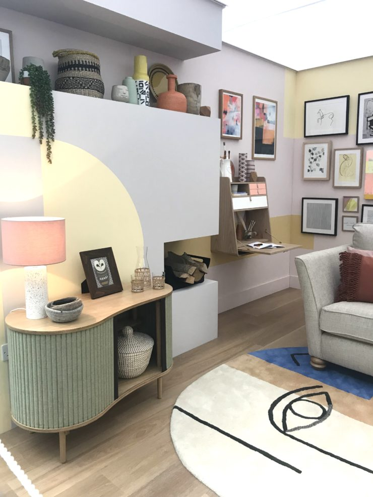 Maxine Brady and Laurie Davidson from The Secret Styling Club attend the Ideal Home Show