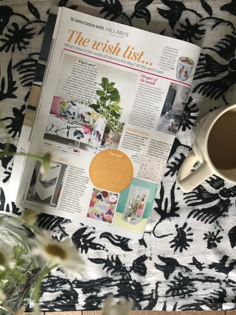 Interior Stylist and Lifestyle Blogger, Maxine Brady from We Love Home blog has been picked out as May's 2 018 Blogger of the Month by Your Home magazine www.maxinebrady.com