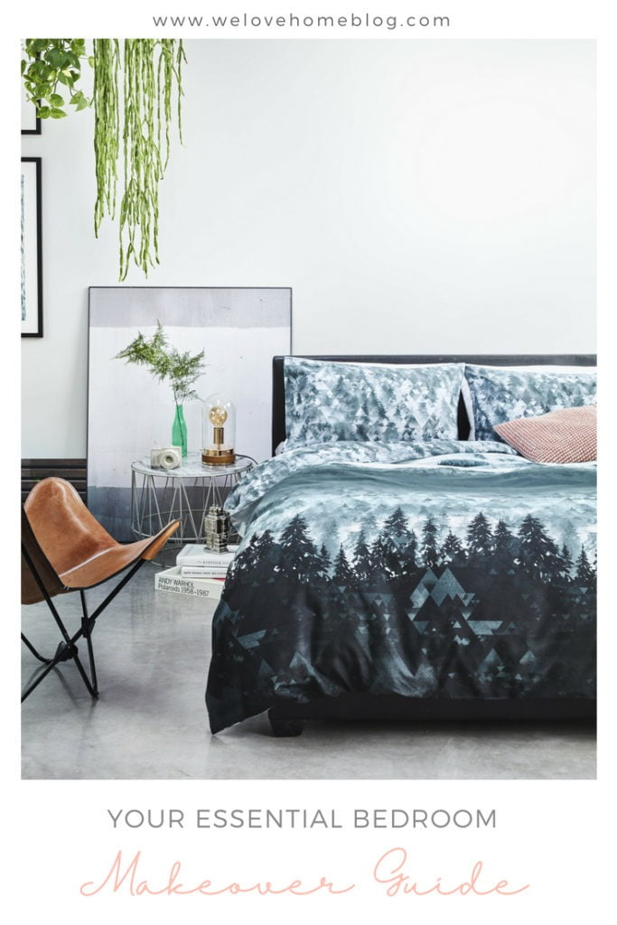 Essential Bedroom Makeover Guide with step-by-step instructions on how to makeover your room by Interior Stylist Maxine Brady