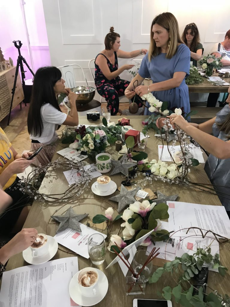 Secret Styling Club host a bespoke workshop at Next big Christmas trends event in London for #HouseOfNext - Interior Stylist Maxine Brady