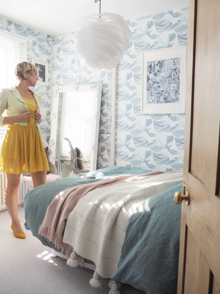 Come take the tour of my seascape bedroom and see what ideas you can take-away for your bedroom at home by interior stylist  and blogger Maxine Brady