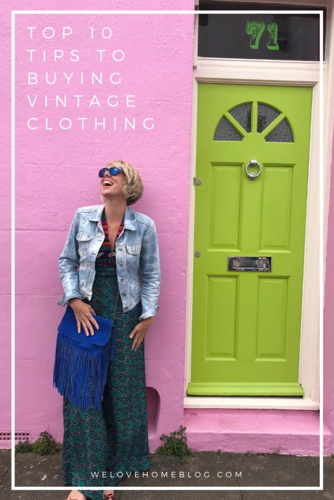 Top 10 tips on howbuy vintage clothing that really suits you whatever your size or age by award winning lifestyle blogger Maxine Brady from We Love Home