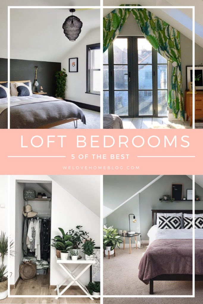 The Top 5 Loft Bedrooms on Instagram plus helpful tips on how to plan your attic conversion by Interior Styist, Maxine Brady from We Love Home blog