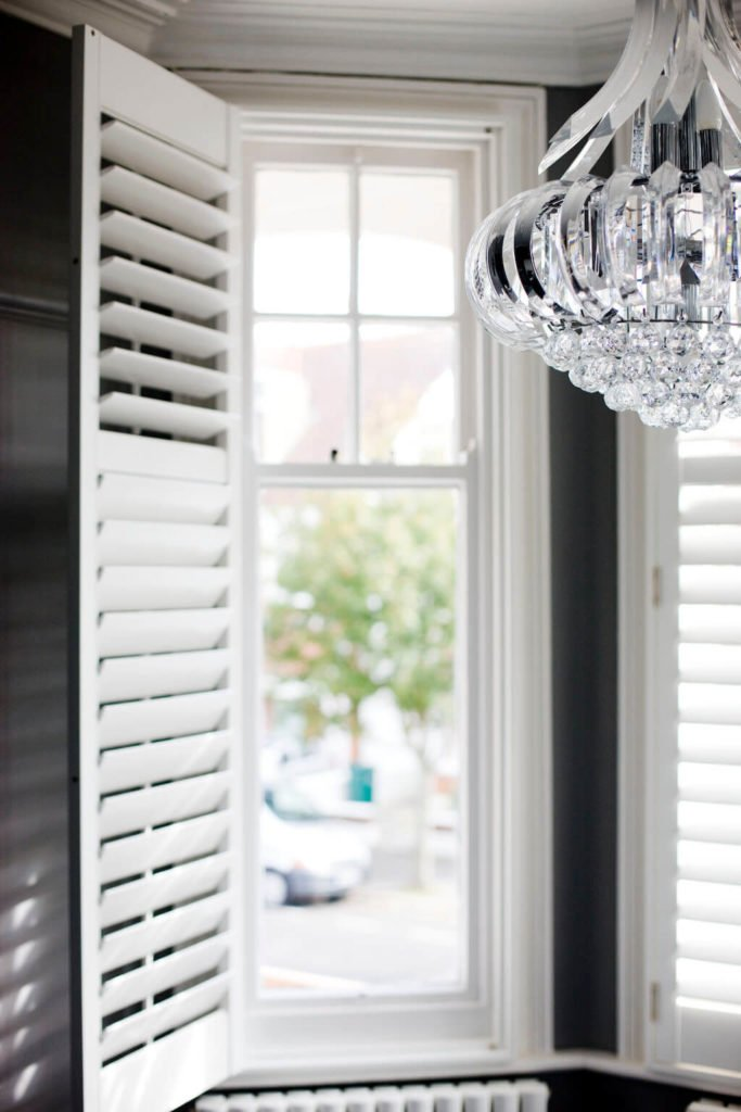 Expert advice on how to buy window shutters, DIY guide on to fit them transforming your home on budget by interior stylist & blogger Maxine Brady