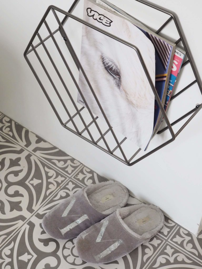 Top tips on how to kick start your day by interior stylist Maxine Brady from We Love Home blog. Magazine rack in bathroom Vice magazine