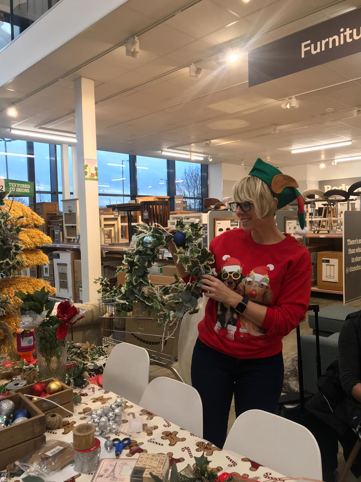Discover the Secret Styling Club hosts a Christmas Wreath Making With Dunelm Mill in Nottingham says Interior Stylist Maxine Brady