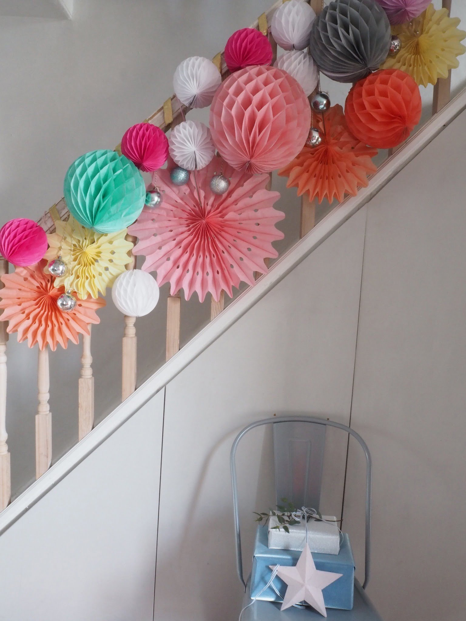Set the perfect tone for your festive party with this pretty paper garland. It's fun, festive and dead easy to do says interior stylist Maxine Brady.