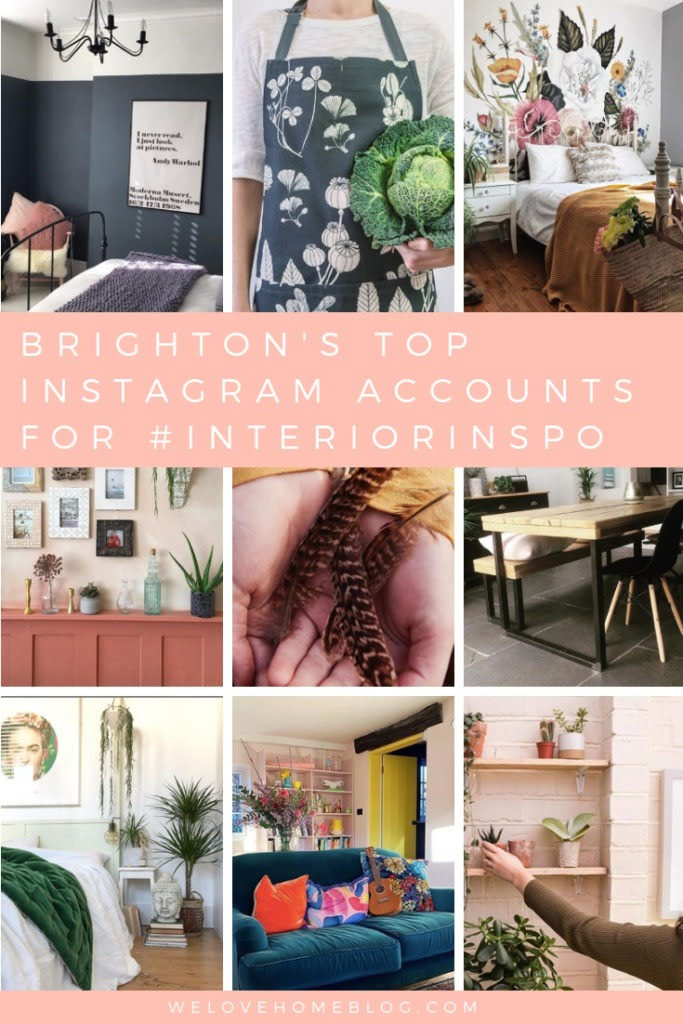 Discover Brighton's top 16 insgram accounts for interior inspiration hand picked by award winning interior stylist Maxine Brady