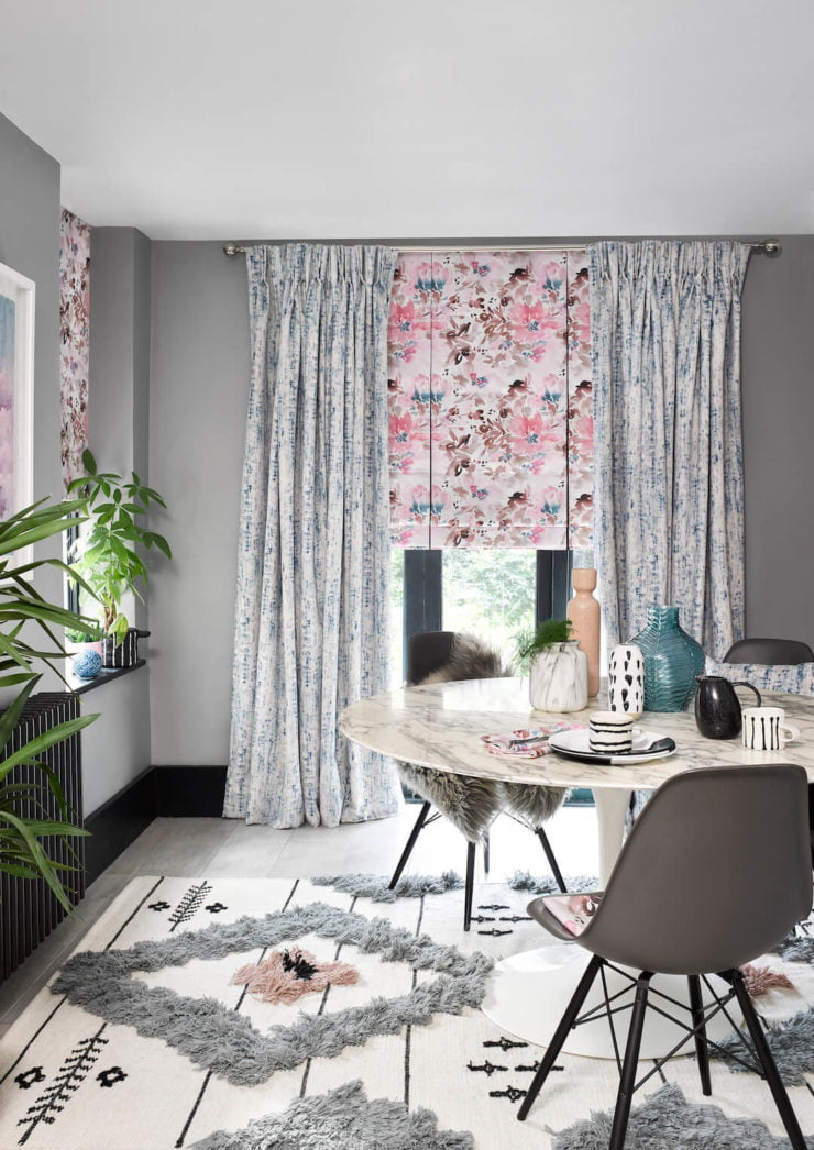 Discover the hottest window trends for your home with this post which shows Maxine Brady's interior styling for Hillarys blinds