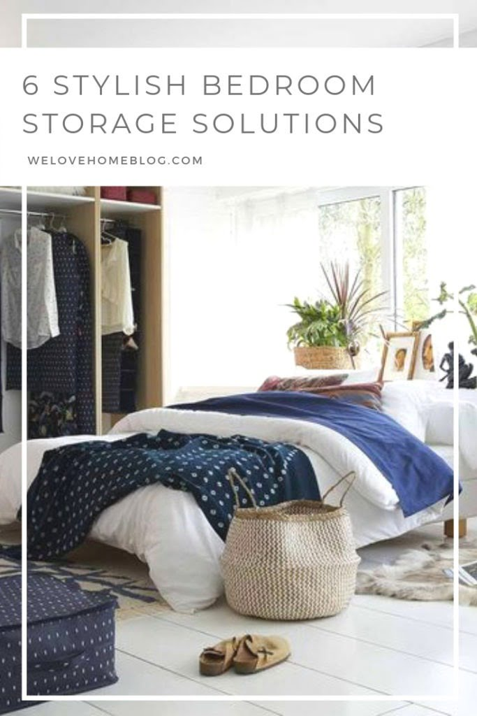 Discover how to tackle your bedroom clutter with these 6 stylish bedroom storage solutions for your home by interior stylist Maxine Brady