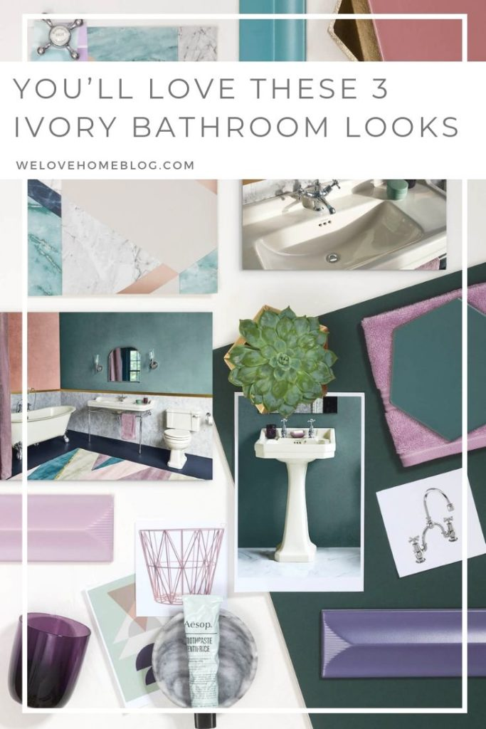 Looking for bathroom inspiration? Interior Stylist Maxine Brady shares 3 modern ivory bathroom looks that you can try out in your home.