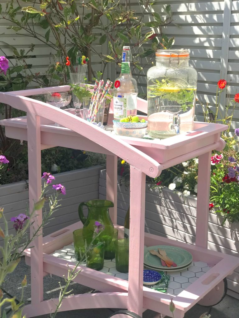 Bar cart accessories for your garden