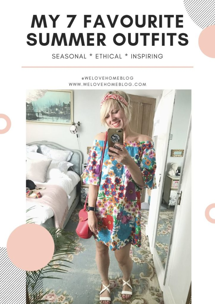 7 favourite Summer outfits hand picked by stylist Maxine Brady, perfect if you're looking to freshen up your wardrobe from We Love Home Blog.