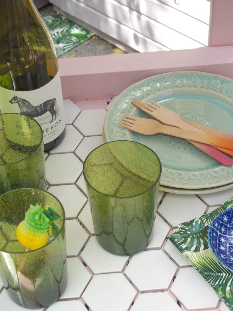 picnicware for summer with ombre cutlery
