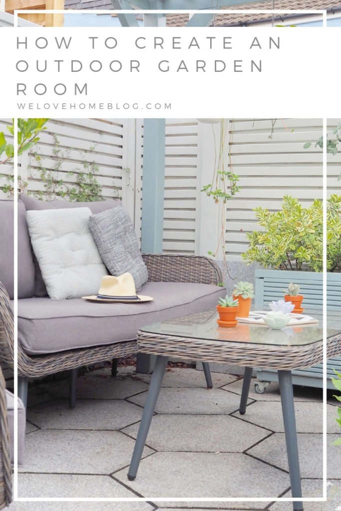In this post, I'm sharing my 8 easy tips and tricks on how to create an outdoor garden room. From paint, to furniture to accessories - this post has got it covered. Why? Because we all want you to enjoy Summer for longer and make the most of every ray of sunshine says lifestyle blogger Maxine Brady