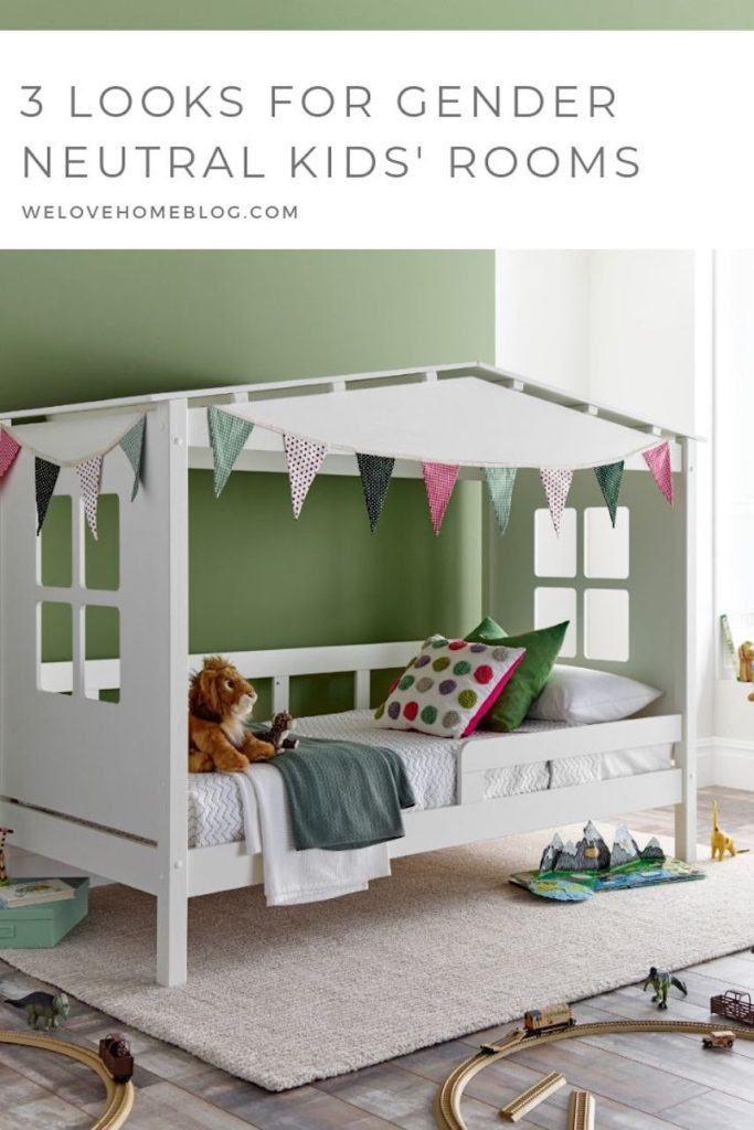 Discover how to decorate a gender neutral kids bedrooms with these ideas that your little ones will love as much as you by Interior Stylist Maxine Brady and Happy Beds