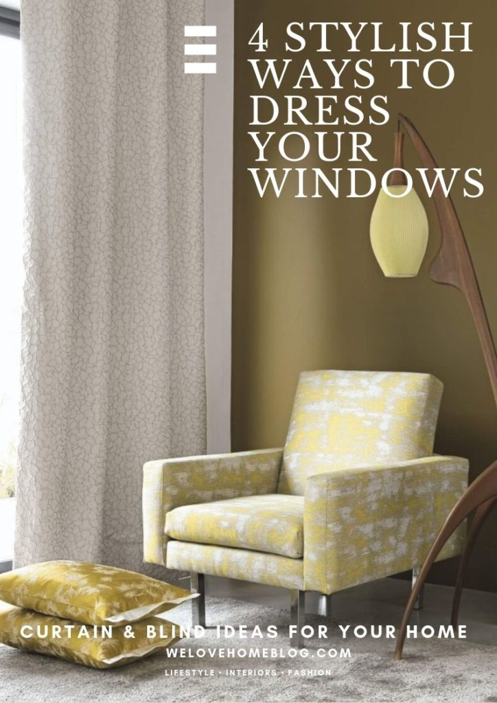 Discover 4 stylish ways to dress your windows this winter with the help of Interior Stylist Maxine Brady and Couture Living