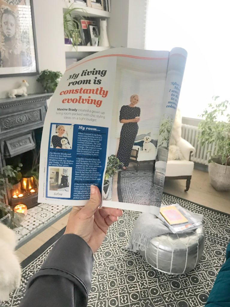 See how a dreary living room was transformed with boho vibed by Interior Stylist Maxine Brady when she styled her home for HomeStyle magazine