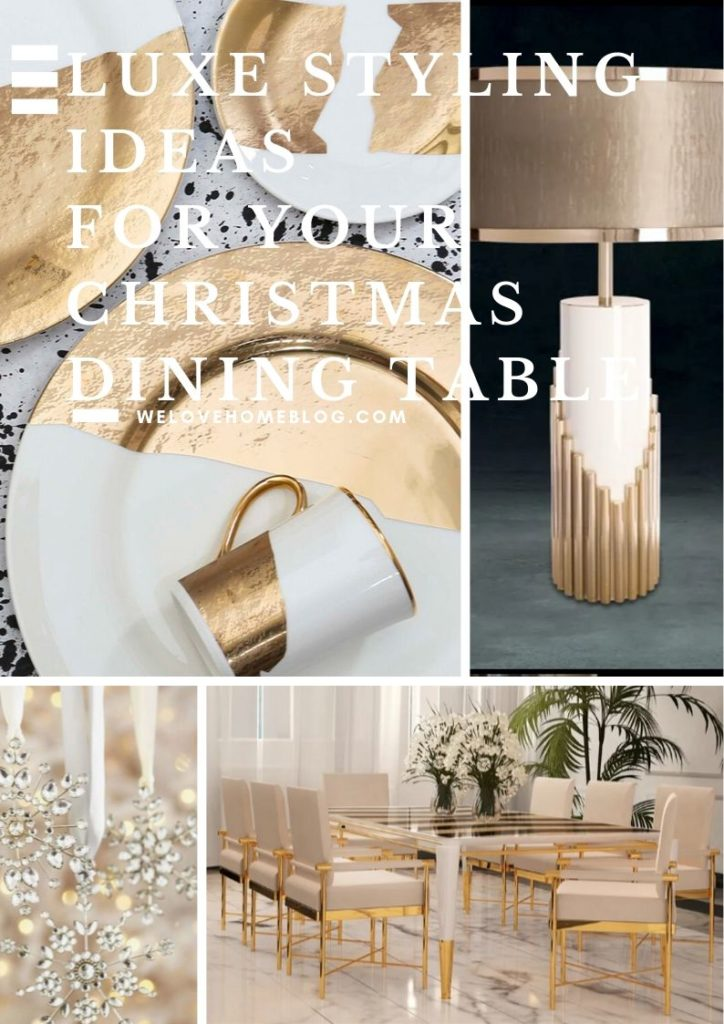 Follow these styling ideas to help you create your DREAM luxe Christmas dining room - all styling tips from stylist Maxine Brady.