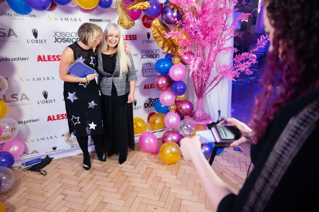 Maxine Brady from We Love Home wins Best interior Lifestyle Blog award at the Amara 2019 Blogging awards in London
