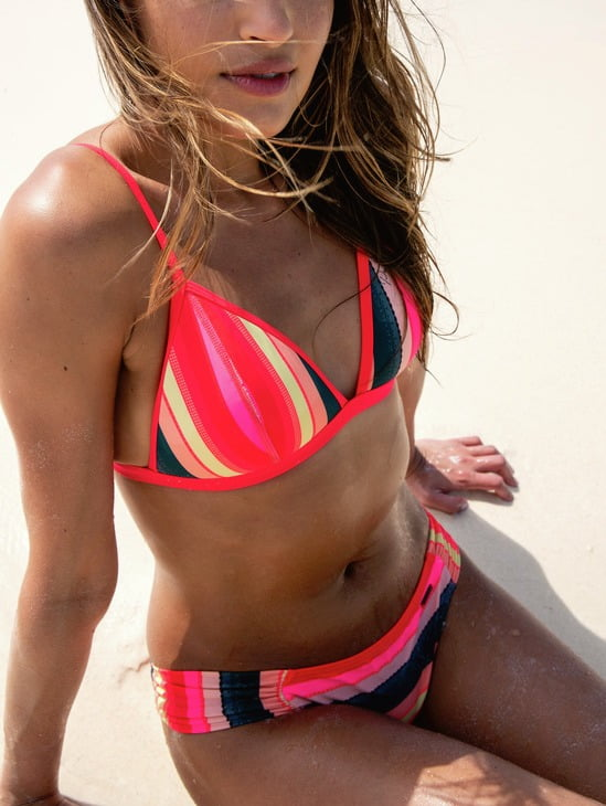 brightly coloured bikinis for winter sun holidays