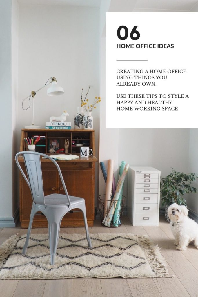 6 go-to tips for creating a home office using things you already own to create a happy and healthy working space says interior stylist Maxine Brady