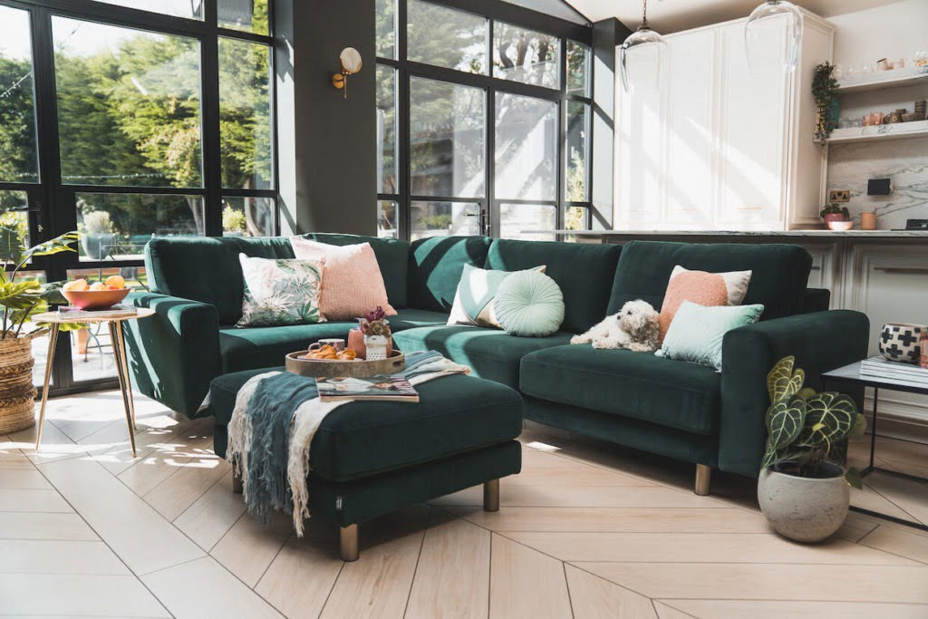 Behind the scenes - styling for snug sofa. Interior Stylist Maxine Brady shares her latest interior styling project with lots of interior inspiration for you