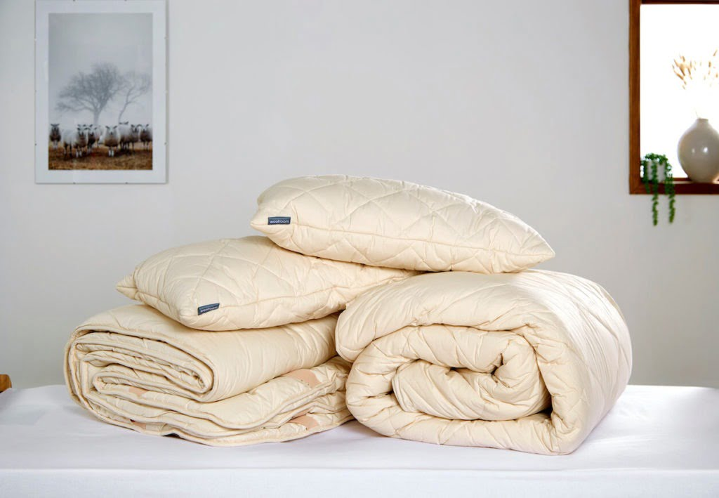 Woolroom natural bedding help you sleep better, it's cosy and good for the environment too says Maxine Brady Interior Stylist