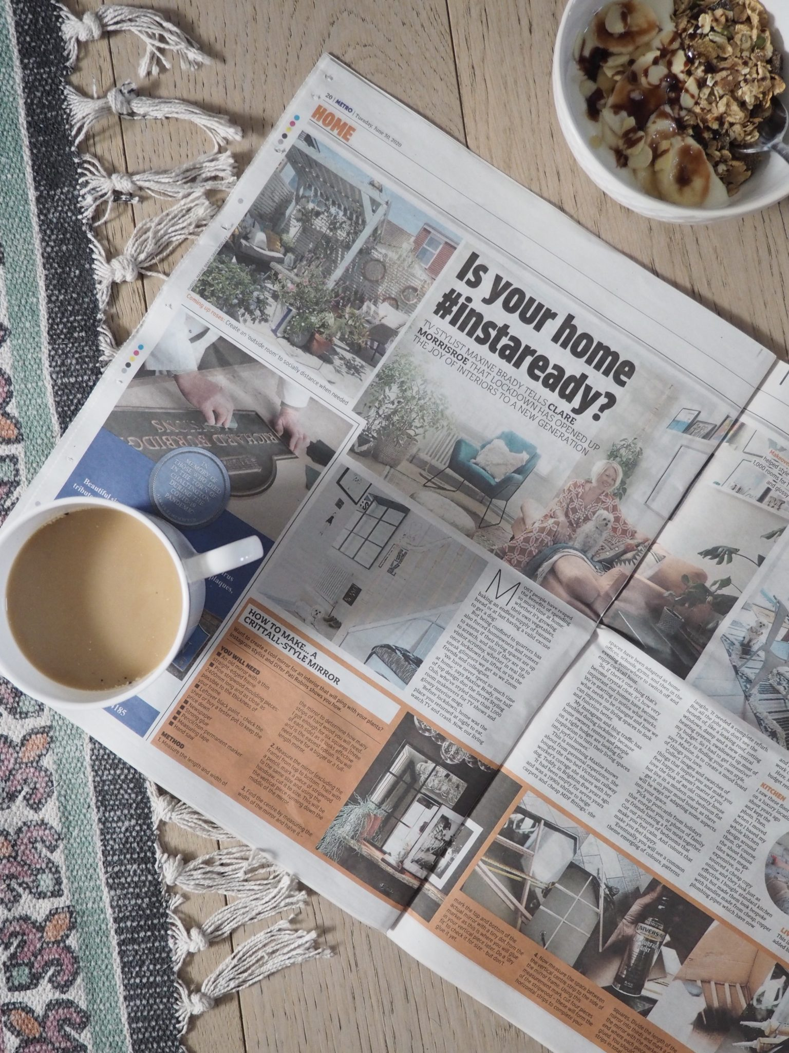 My Home Tour in the Metro Newspaper