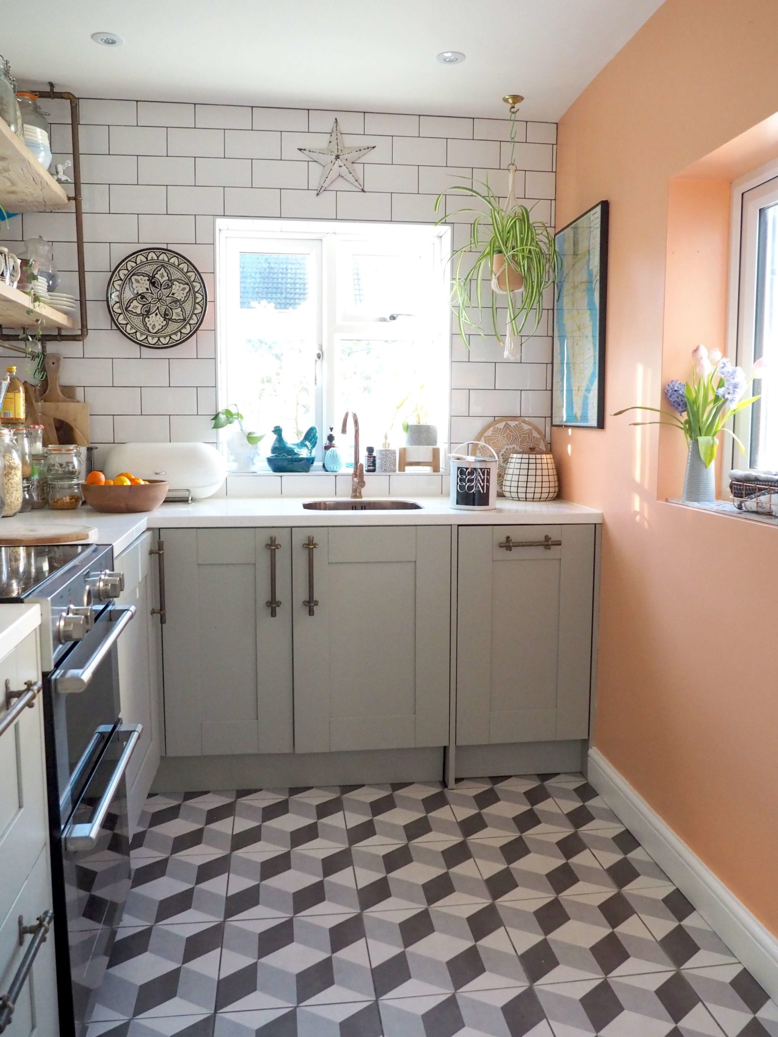 CLICK >> to see the best peach blush colour for your home designed by  interior stylist Maxine Brady and Coat paints.