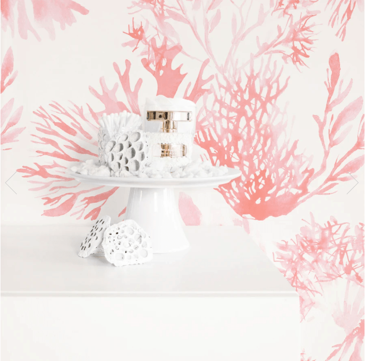 Be the first to see the plans for my bedroom makeover- (hint it has a coral wallpaper!)  Pink coral wallpaper