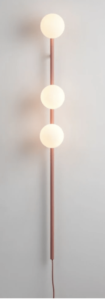 Be the first to see the plans for my bedroom makeover- (hint it has a coral wallpaper!)  pink art decor light fitting modern
