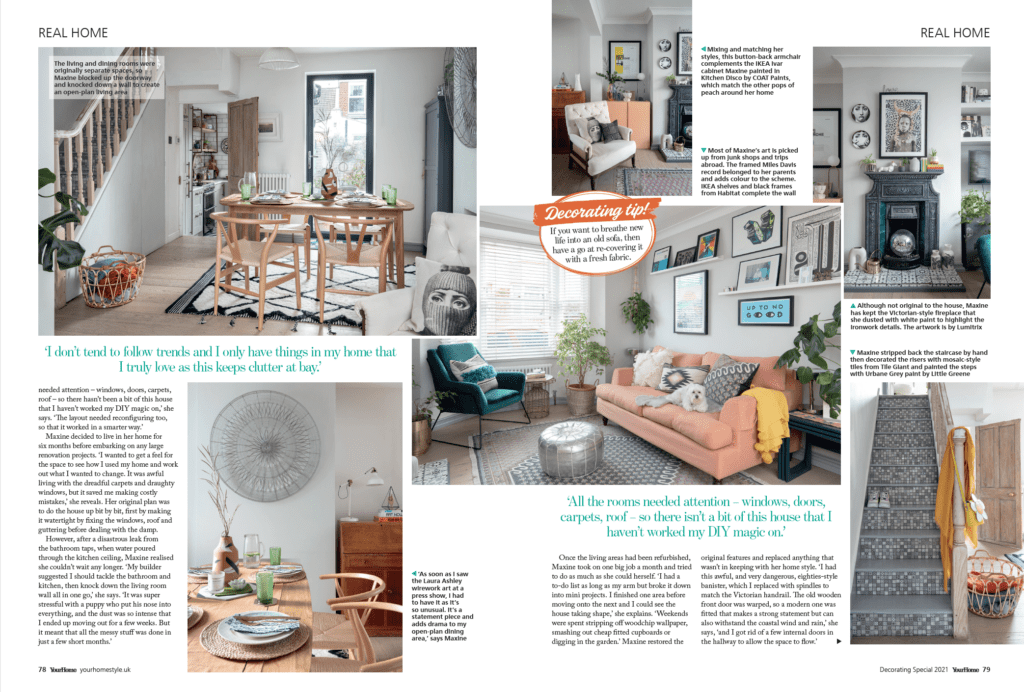 Take a home tour around interior stylist Maxine Brady's colourful Brighton home in the August issue of Your Home magazine.