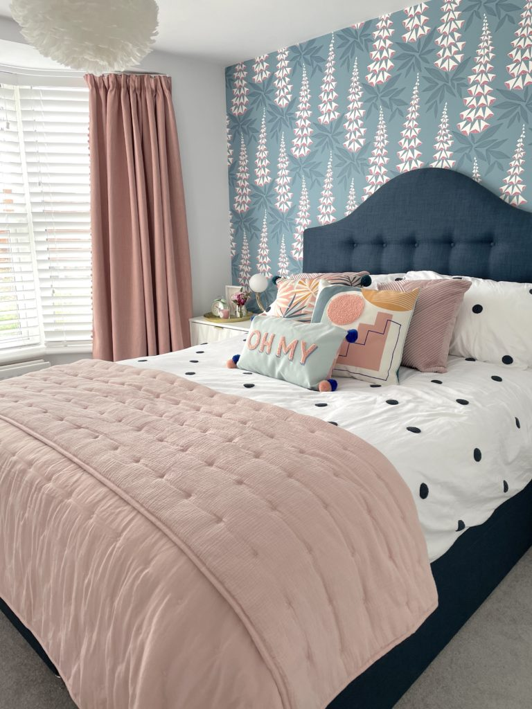 Be inspired by this colourful bedroom and bathroom makeover by Interior Stylist Maxine Brady